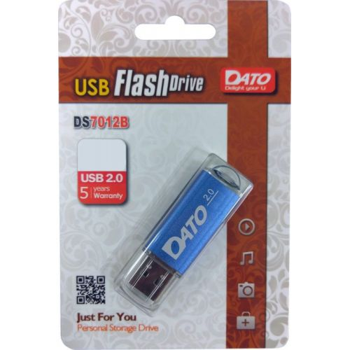 Флеш Диск Dato 8Gb DS7012 DS7012B-08G USB2.0 синий (DS7012B-08G)