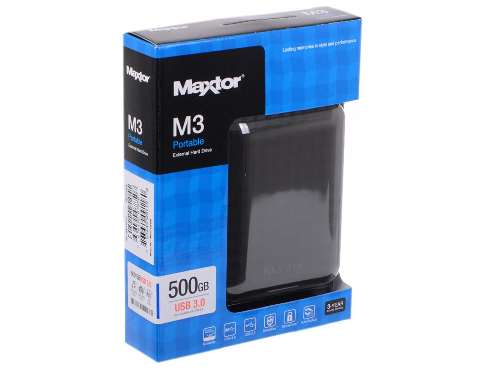 """Внешний жёсткий диск, Seagate (Maxtor), STSHX-M500TCBM 500GB M3 Portable, 16Mb, 2.5"""", USB 3.0"""